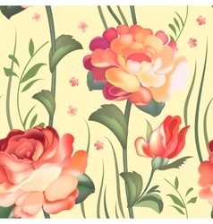 Floral textile seamless pattern in russian vector