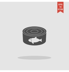 cans - canned food concept vector image vector image
