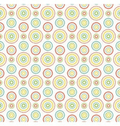 Colorful dots circles pattern on white background vector image