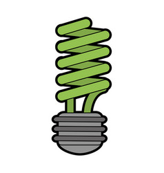 energy saving lightbulb eco friendly related icon vector image vector image
