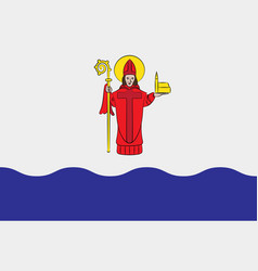 Flag of vaxjo is a city in kronoberg county sweden vector