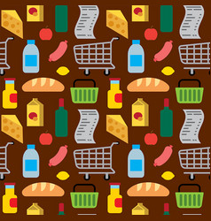 food and drinks seamless pattern vector image vector image