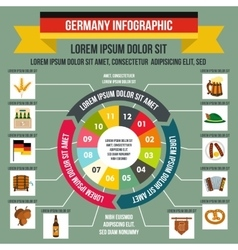 Germany infographic flat style vector