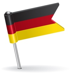Germany pin icon flag vector