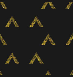 Gold geometric triangle on black background vector