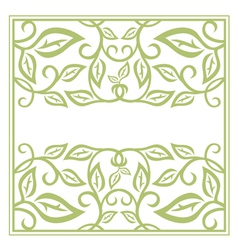 Green Floral Frame vector image vector image