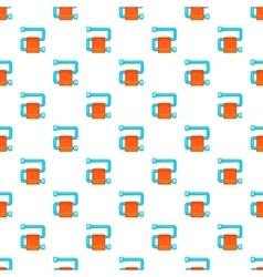 Heated towel rail pattern cartoon style vector