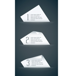 Paper card with curled corners vector