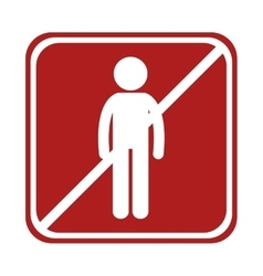 Restricted man person icon square sign vector