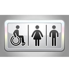 Restroom symbol button vector