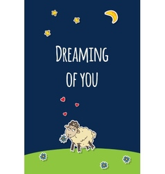 sheep greeting card vector image