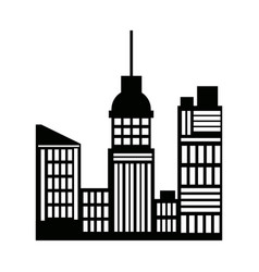 Silhouette buildings skyline skyscrapers vector