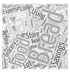 Sm money savings on food word cloud concept vector