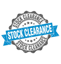 Stock clearance stamp sign seal vector