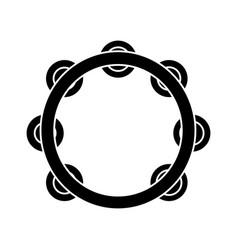 tambourine icon black sign vector image vector image