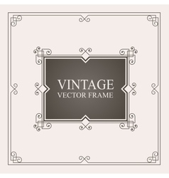 Vintage ornament frame retro wedding invitations vector