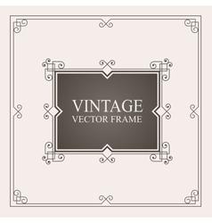 Vintage ornament frame Retro wedding invitations vector image