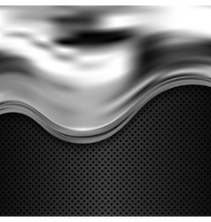 Silver and black metallic background vector