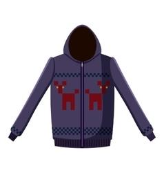 Sweatshirt with deer icon cartoon style vector