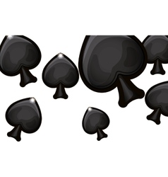 Isolated spade of card game design vector