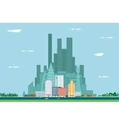 Day urban landscape city real estate summer vector