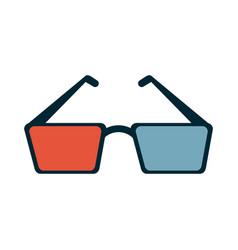 3d glasses icon image vector