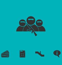 Bandit group icon flat vector