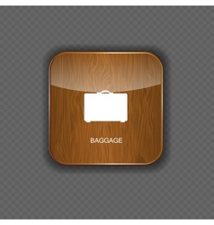 Baggage wood application icons vector