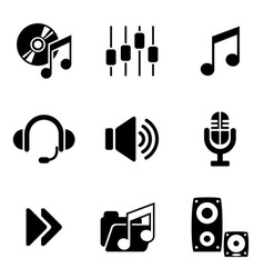 computer audio icons vector image