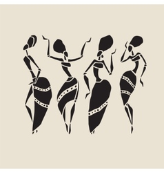 African silhouette set vector