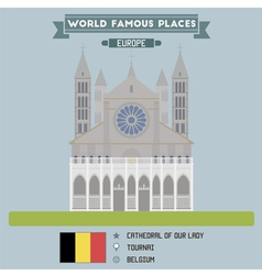 Tournai cathedral vector