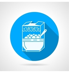 Contour icon for cereal vector