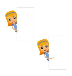 Set of funny cartoon housewife vector