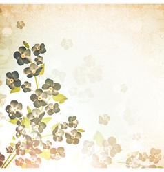 forget-me-not flower vintage background vector image