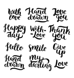 Photo overlays handdrawn lettering vector