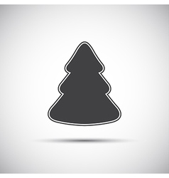 Simple icon of christmas tree on white background vector