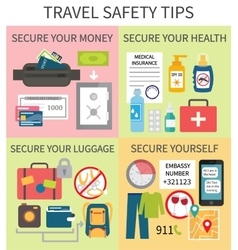 Travel safety tips vector