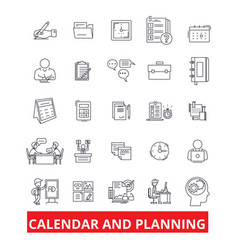 Calender and planning schedule planner vector