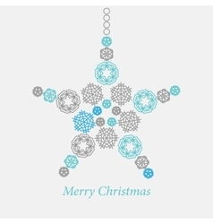 Christmas ornaments made from snowflakes vector image vector image