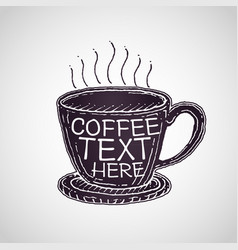 coffee cup drawing vector image