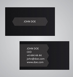 Dark business card template vector