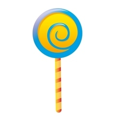 delicious candy lollipop sweet vector image vector image