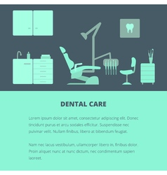 Dental care template vector image vector image