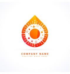 Flame logo design concept vector