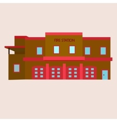 flat of fire station vector image