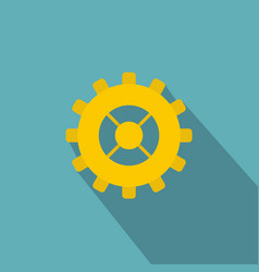 Gear icon flat style vector