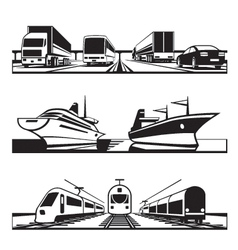 Global transportation set vector image vector image