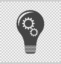 Idea with light lamp bulb flat vector
