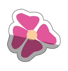 Isolated pink flower design vector