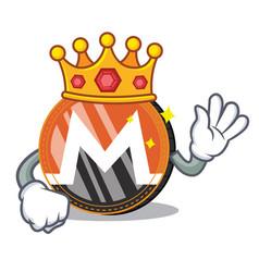 King monero coin character cartoon vector